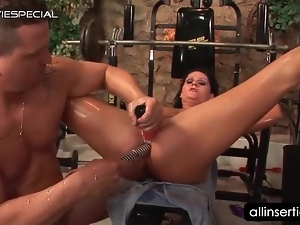 Anal, Brunettes, Butt, Couple, Dick, Dildo, Gym, Hardcore, Insertions, Masturbating, Milf, Nude, Oiled, Riding, Sex toys