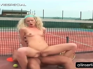 Amateur, Anal, Blondes, Couple, Dildo, Hardcore, Insertions, Masturbating, Outdoor, Sex toys, Small tits, Tennis