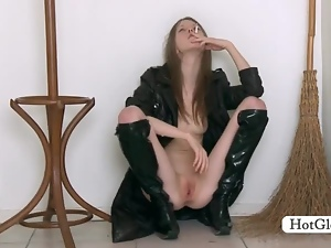 Amateur, Babes, Leather, Long hair, Masturbating, Petite, Pussy, Russian, Sexy, Skinny, Solo, Teens
