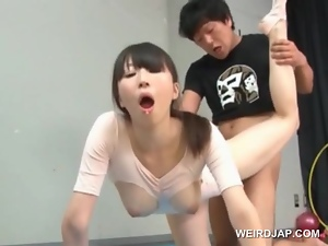 Asian, Brunettes, Couple, Cute, Fucking, Gymnast, Hardcore, Japanese