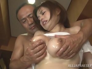 Asian, Babes, Big tits, Busty, Cougar, Couple, Fucking, Hardcore, Japanese, Natural boobs, Nude, Oiled, Old and young