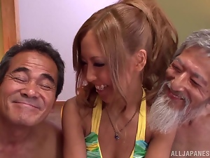 Asian, Babes, Farting, Hardcore, Japanese, Old, Old and young, Threesome