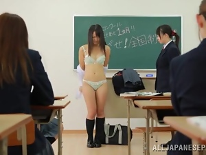 Asian, Babes, Bra, Brunettes, Classroom, College, Friend, Humiliation, Japanese, Kinky, Panties, Snatch, Socks, Student