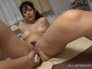 Amateur, Asian, Big tits, Brunettes, Couple, Fondling, Fucking, Hardcore, Japanese, Natural boobs, Sex toys, Sexy, Vibrator