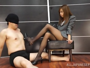 Asian, Babes, Boss, Couple, Fetish, Foot fetish, Hardcore, Japanese, Nylon, Pantyhose, Secretary