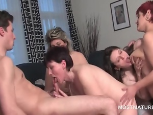 Brunettes, Dick, Gangbang, Mature, Mature amateur, Teens