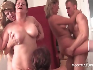 Blowjob, Dick, Mature, Mature amateur, Orgy, Riding, Teens