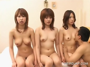4some, Asian, Doll, Group sex, Hardcore, Japanese, Licking, Natural boobs