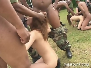 Amateur, Asian, Blowjob, Gangbang, Group sex, Hardcore, Interracial, Japanese, Outdoor, Slave