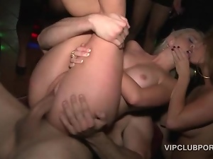 Amateur, Blondes, Fucking, Group sex, Hardcore, Orgy, Party, Snatch, Vip room