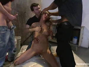 Bdsm, Brunettes, Chained, Gangbang, Humiliation, Master, Rough
