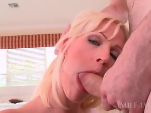 Blondes, Blowjob, Couple, Cunt, Face fucked, Fingering, Hardcore, Milf, Throat