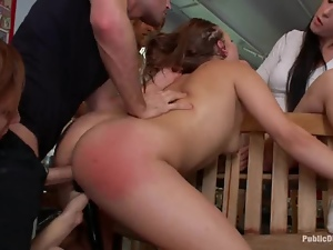 Bdsm, Fetish, Fucking, Group sex, Humiliation, Shop, Spanking