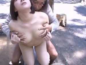 Asian, Couple, Forest, Fucking, Hardcore, Japanese, Milf, Natural boobs, Outdoor