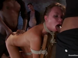 Basement, Bdsm, Brunettes, Fucking, Gangbang, Sexy, Tied up, Torture