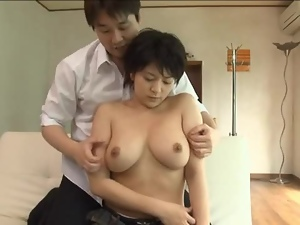 Amateur, Asian, Big tits, Busty, Couple, Cum, Cum covered, Hardcore, Japanese, Natural boobs