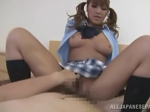 Amateur, Asian, Babes, Couple, Fingering, Hardcore, Japanese, Natural boobs, Pigtail, Pov, Sexy, Socks