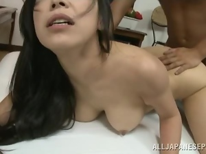 Amateur, Asian, Brunettes, Couple, Doggystyle, Garden, Hardcore, Housewife, Japanese, Natural boobs, Riding