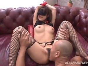 Amateur, Asian, Couple, Fishnet, Game, Hardcore, Japanese, Kinky, Licking, Lingerie, Natural boobs, Rough, Stockings