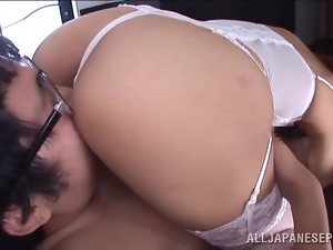 Amateur, Asian, Beautiful, Blowjob, Couple, Hardcore, Japanese, Licking, Lingerie, Sexy, Tease, Thong, White