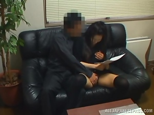 Asian, Brunettes, Couple, Fingering, Hardcore, Interview, Japanese, Nylon, Sexy, Stockings