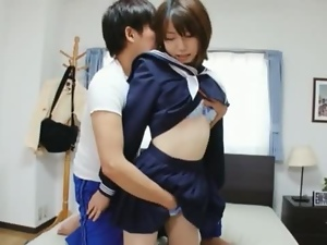 Amateur, Asian, Brunettes, Couple, Cute, Fucking, Hardcore, Japanese, Schoolgirl uniform, Teens, Uniform