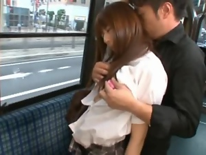 Asian, Bus, Couple, Fucking, Hardcore, Japanese, Public, Student