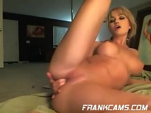 Amateur, Big tits, Blondes, Fake tits, Fingering, Fondling, Masturbating, Webcam