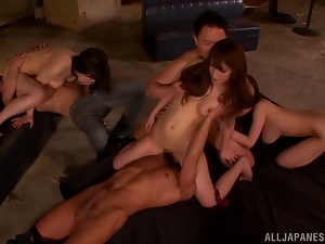 Asian, Babes, Fucking, Group sex, Hardcore, Horny, Japanese, Office, Slut