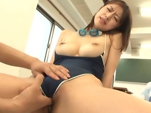 Asian, Babes, Big tits, Brunettes, Classroom, Couple, Fingering, Fucking, Japanese, Sexy, Swimsuit