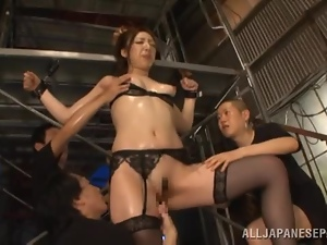 Asian, Babes, Fingering, Japanese, Lace, Lingerie, Milf, Sexy, Stockings, Threesome