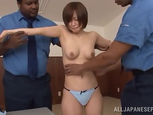Asian, Black, Hardcore, Interracial, Japanese, Mmf, Natural boobs, Naughty, Police, Thong, Threesome