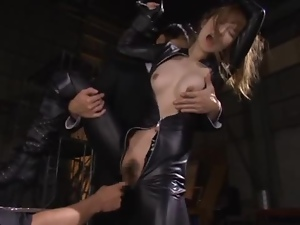 Asian, Babes, Caught, Fingering, Japanese, Mmf, Natural boobs, Orgasm, Threesome, Torture