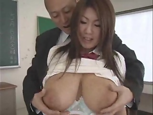 Asian, Big tits, Busty, Classroom, College, Couple, Fucking, Hardcore, Japanese, Natural boobs, Student, Teacher, Uniform