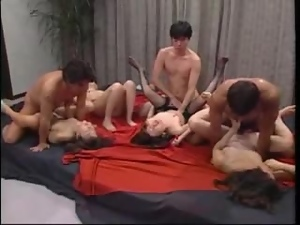 Asian, Drilled, Group sex, Hardcore, Japanese, Lingerie, Milf, Missionary, Nylon, Orgy, Stockings, Wild