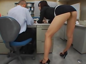 Asian, Beautiful, Fingering, Fucking, High heels, Japanese, Miniskirt, Office, Reality