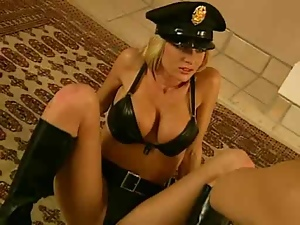 Babes, Big tits, Blondes, Bra, Leather, Panties, Police, Pounded, Sexy, Uniform
