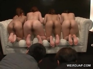 Amateur, Asian, Ass, Group sex, Hardcore, Japanese, Licking, Nude, Orgy, Slave