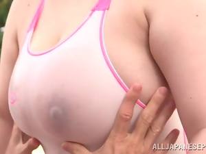 Asian, Big tits, Busty, Chunky, Fucking, Milf, Outdoor