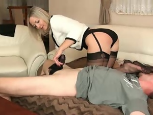 Blondes, Cougar, Couple, Dick, Fetish, Handjob, Hardcore, Horny, Lady, Mature, Milf, Nylon, Panties, Stockings, Toes