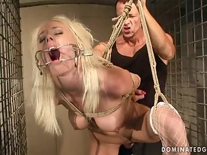 Bdsm, Bondage, Busty, Cage, Pounded, Rich
