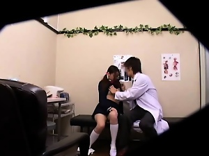 Amateur, Asian, Doctor, Hidden cam, Massage, Schoolgirl uniform, Teens, Voyeur