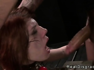 Amateur, Bdsm, Dungeon, Fetish, Fucking, Redheads, Throat, Tits