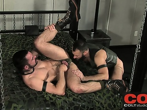 Bear, Big cock, Blowjob, Chained, Collar, Domination, Gay, Huge