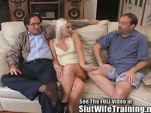 Amateur, Blondes, Cuckold, Hardcore, Husband, Threesome, Watching
