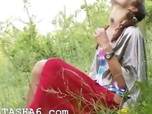 Fingering, Masturbating, Nature, Pussy, Russian, Teens