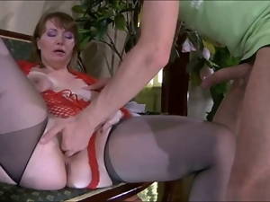 Beautiful, Mature, Milf, Mom, Russian, Saggy tits, Stockings, Tits