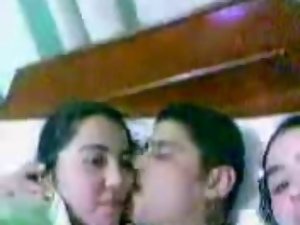 Arab, Bedroom, Egyptian, Group sex, Kissing