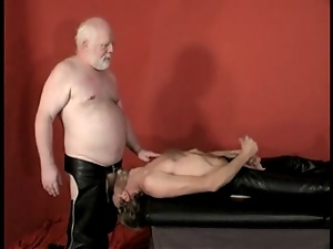 Bear, Dad girl, Gay, Leather, Spanking, White