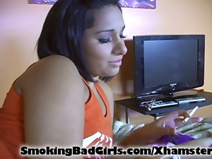 Amateur, Cigarette, Fucking, Masturbating, Sex toys, Smoking, Teens